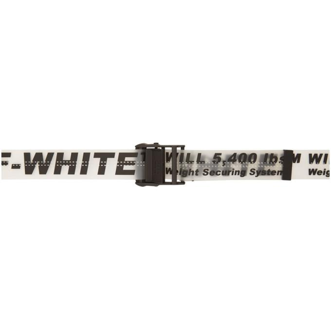 Off-white Black And Transparent Rubber Industrial Belt In 1000 Black
