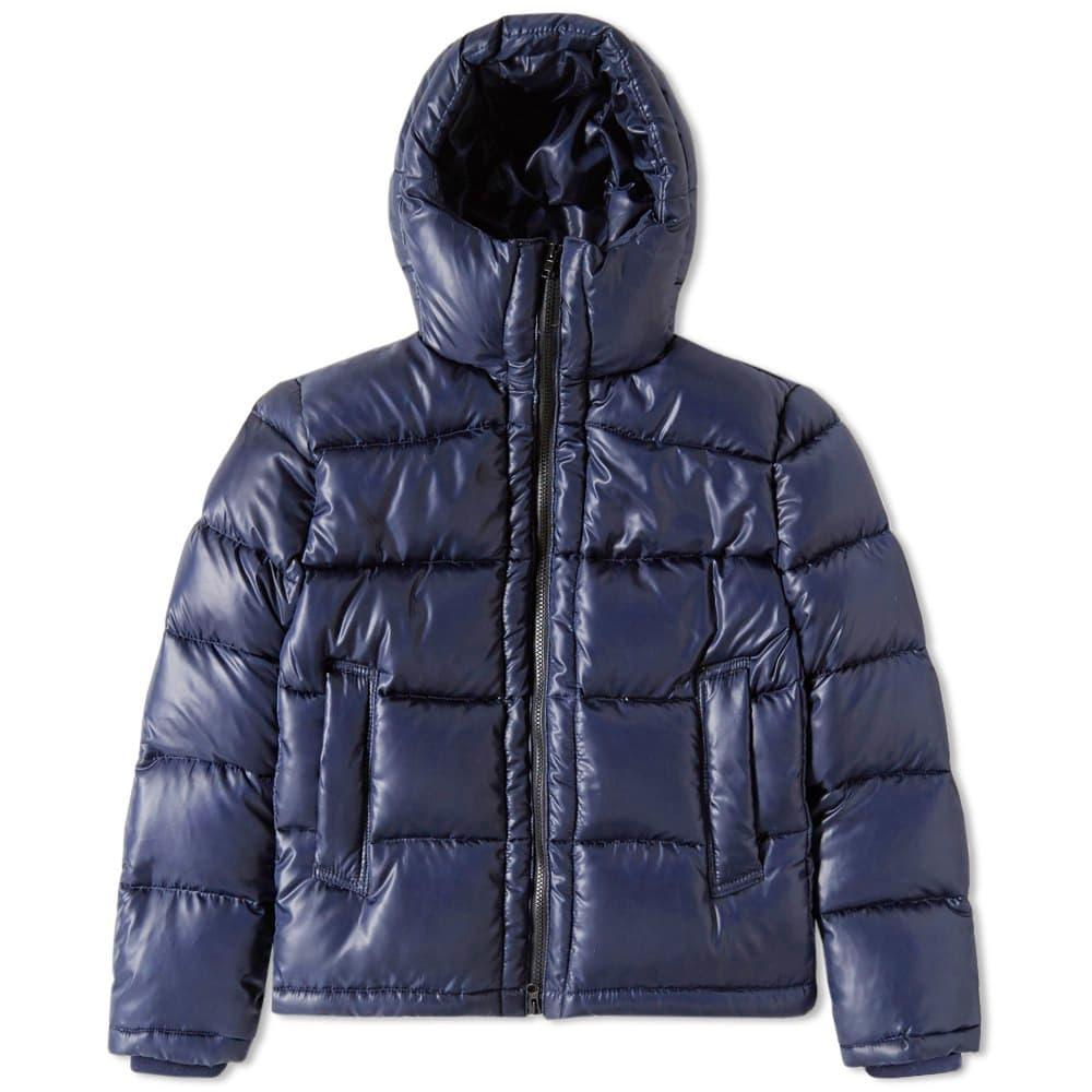 Mki Hooded Down Jacket In Blue