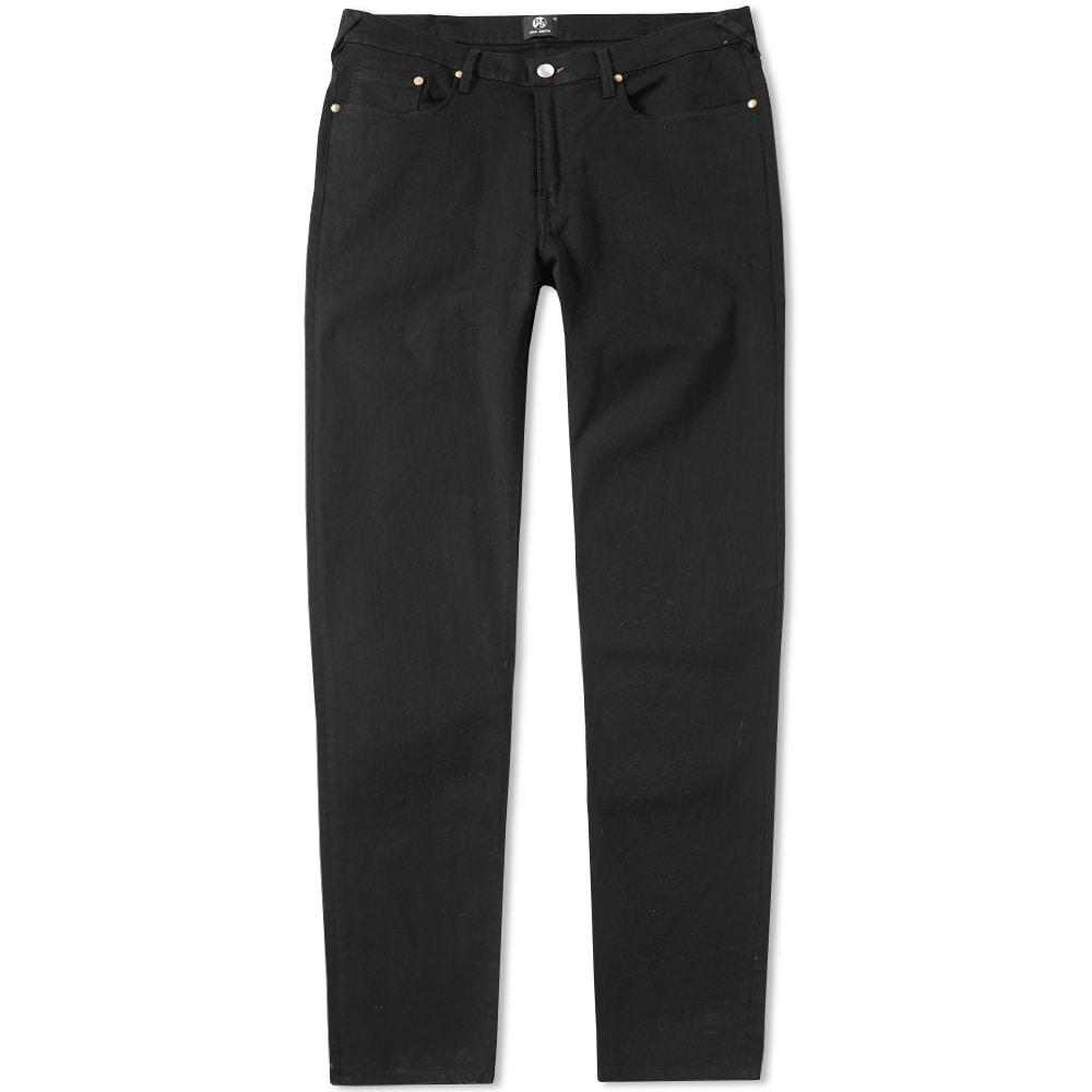 Paul Smith Tapered Fit Lightweight Stretch Jean In Black