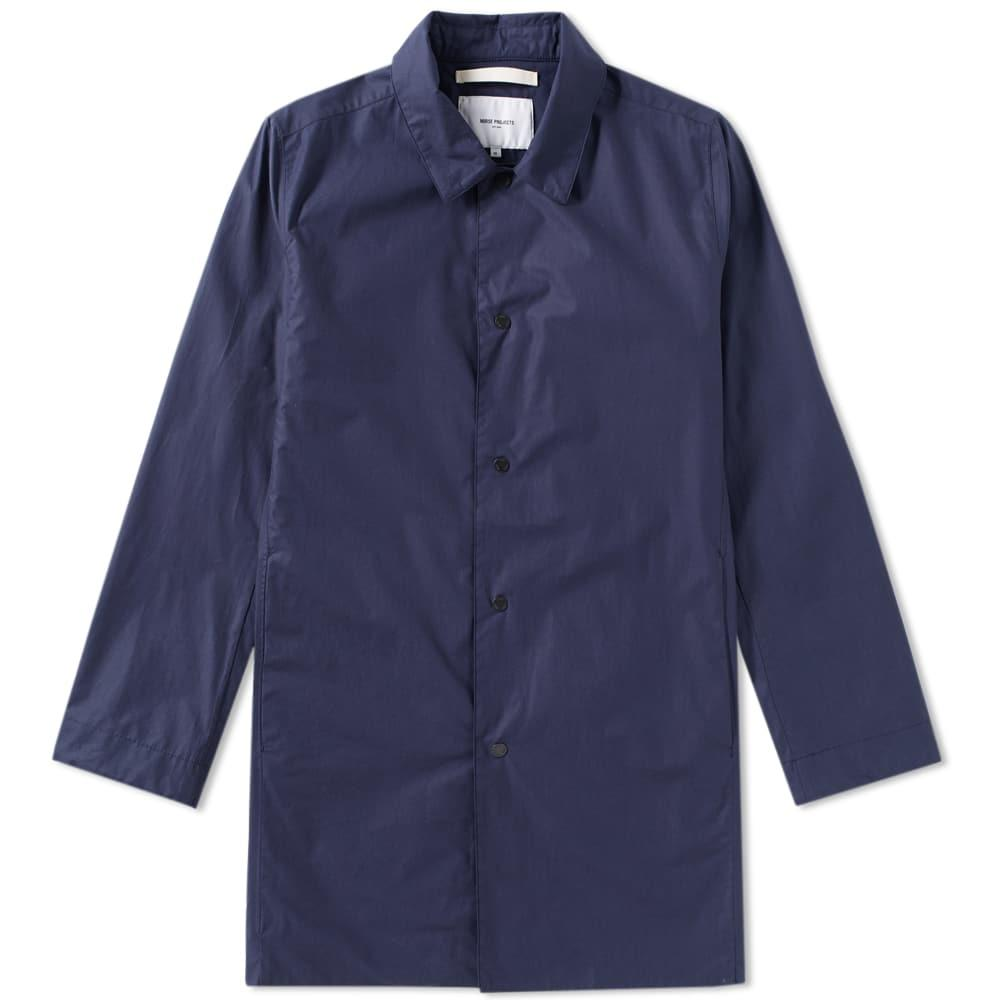 Norse Projects Thor Technical Poplin Jacket In Blue