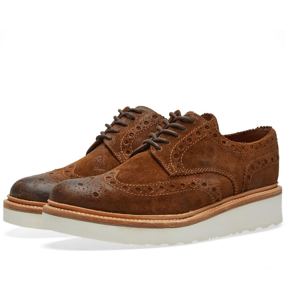 Grenson Archie V Brogue In Brown