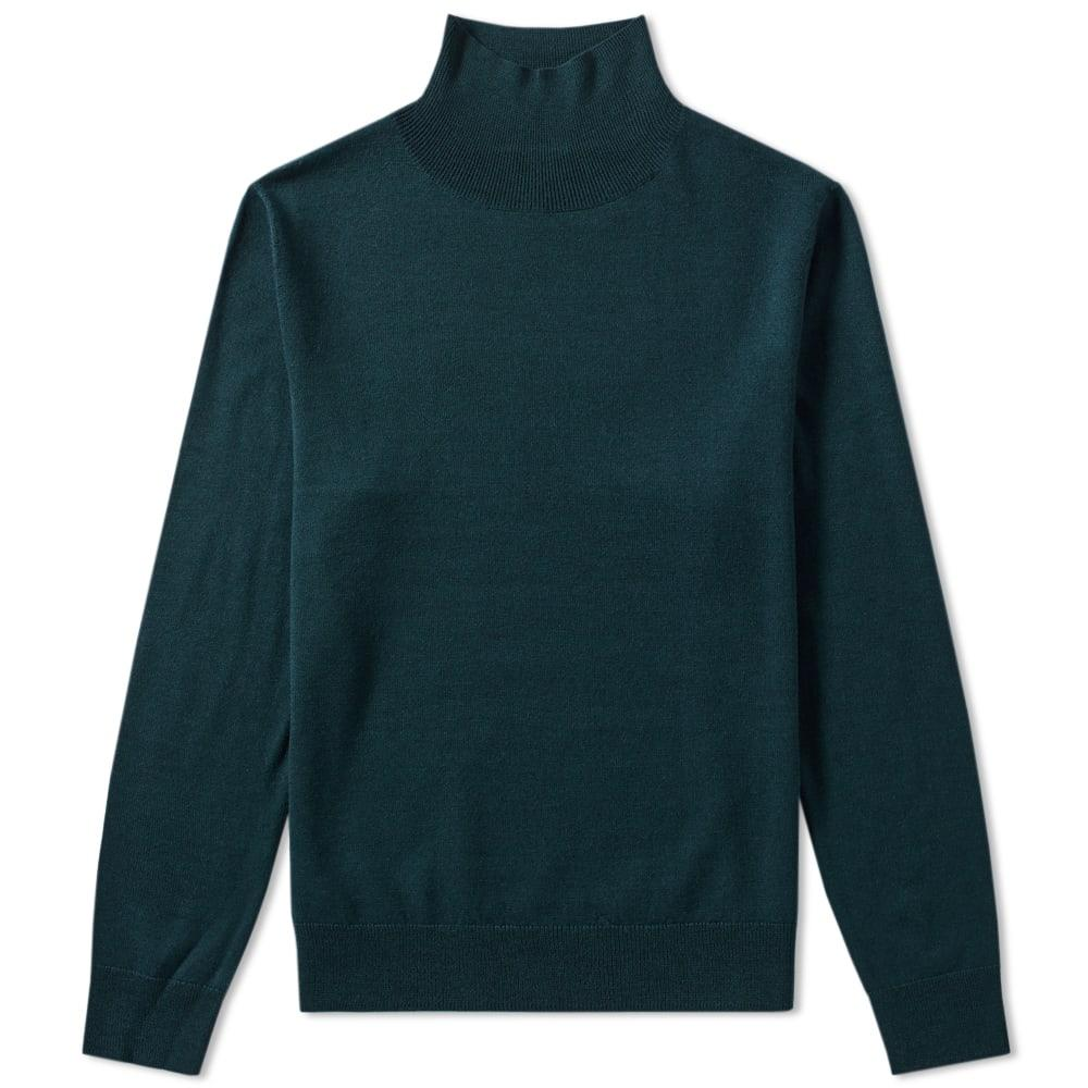 A.p.c. Dundee Roll Neck Knit In Green
