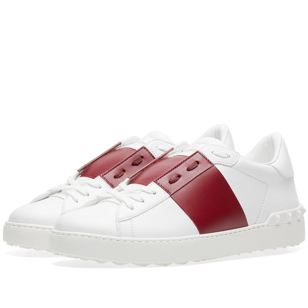 Valentino Garavani Valentino Open Low Top Sneaker In White