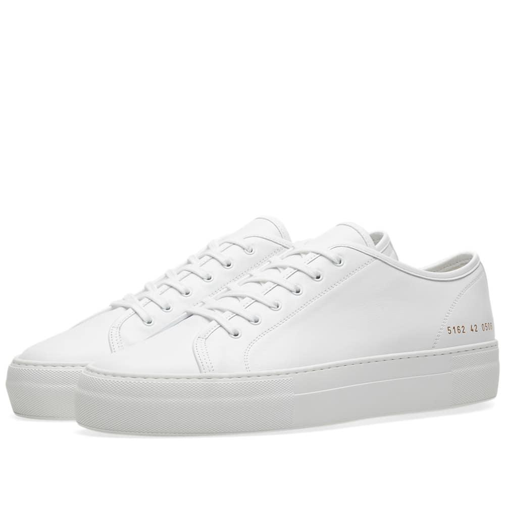 Common Projects Tournament Low Super Leather In White