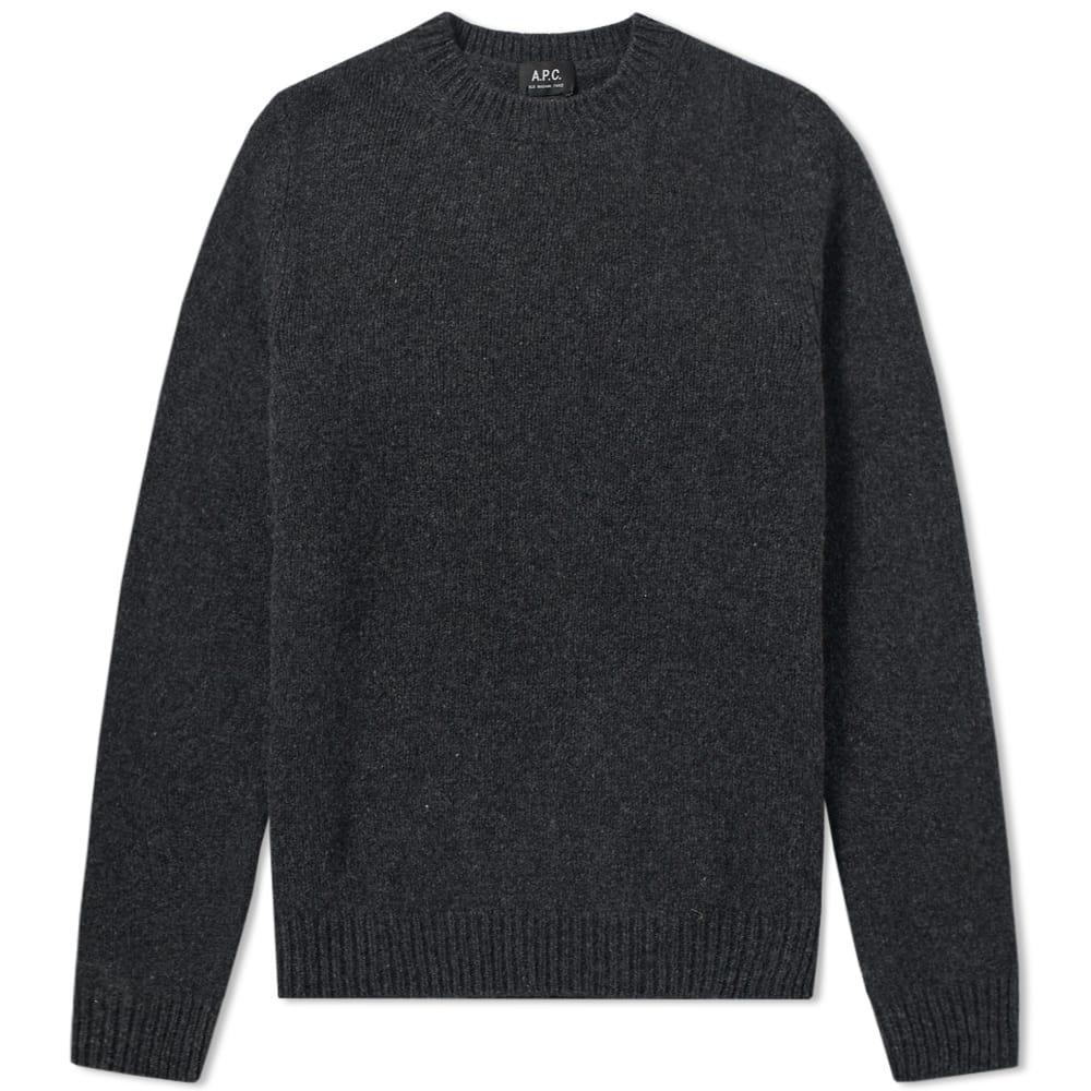 A.p.c. Wind Cashmere Crew Knit In Grey