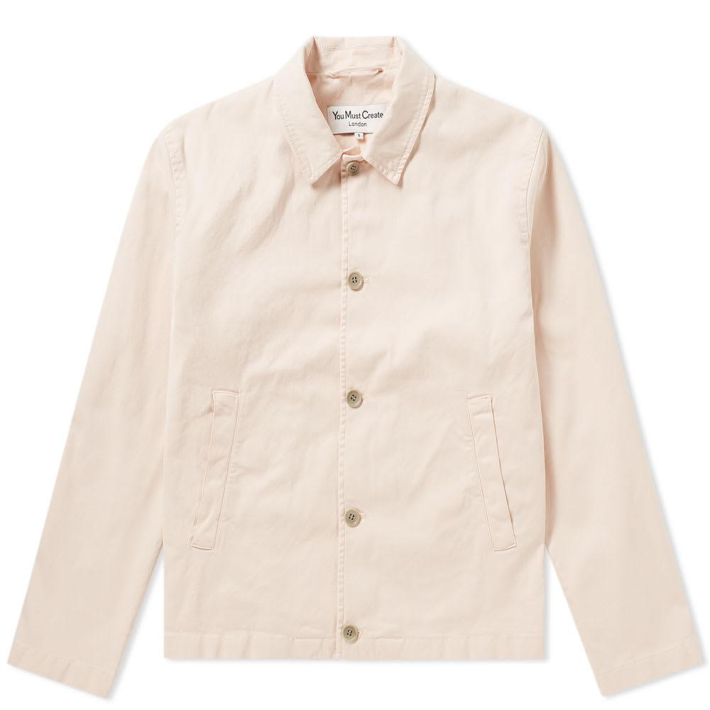 Ymc You Must Create Ymc Twill Groundhogs Jacket In Pink