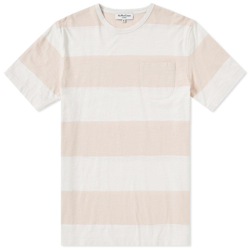 Ymc You Must Create Ymc Stripe Baja Tee In Pink