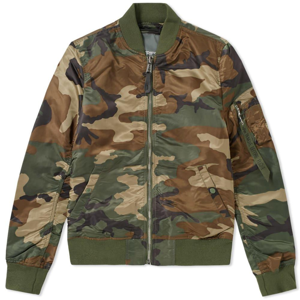Alpha Industries Ma-1 Vf Lw Bomber Jacket In Green