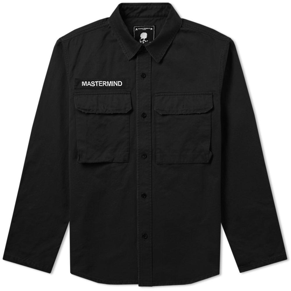 Mastermind Japan Mastermind World Embroidered Skull Military Shirt Jacket In Black