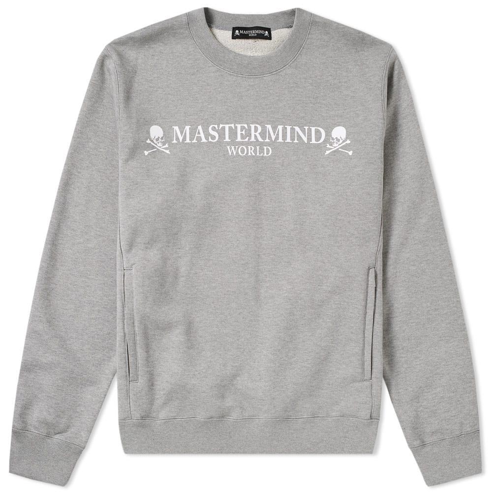 Mastermind Japan Mastermind World Logo Crew Sweat In Grey