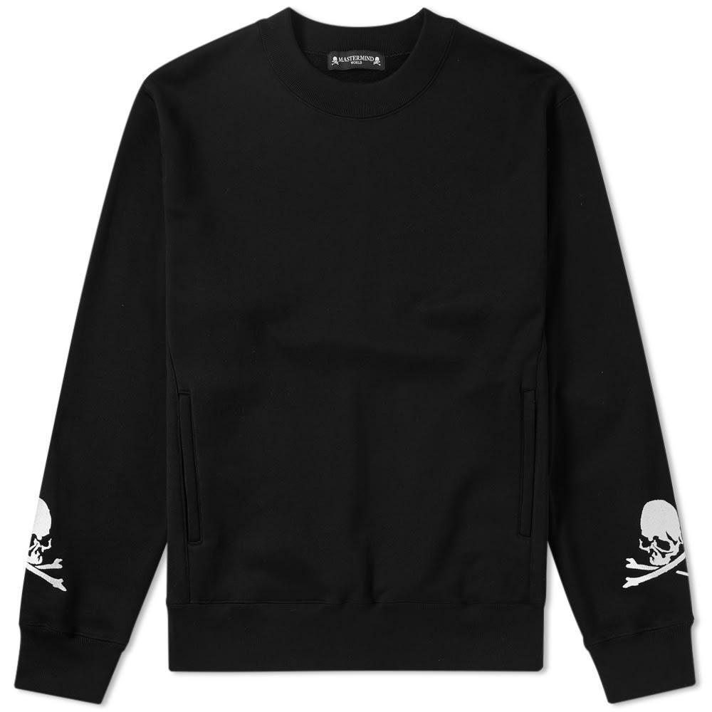 Mastermind Japan Mastermind World Embroidered Skull Crew Sweat In Black