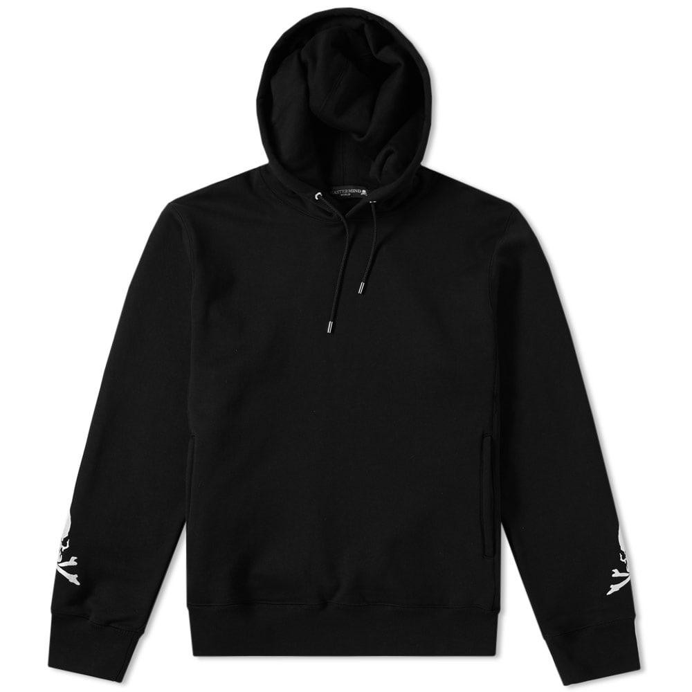 Mastermind Japan Mastermind World Embroidered Skull Hoody In Black