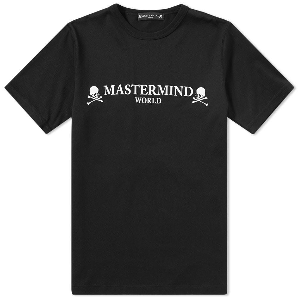 Mastermind Japan Mastermind World Logo Tee In Black