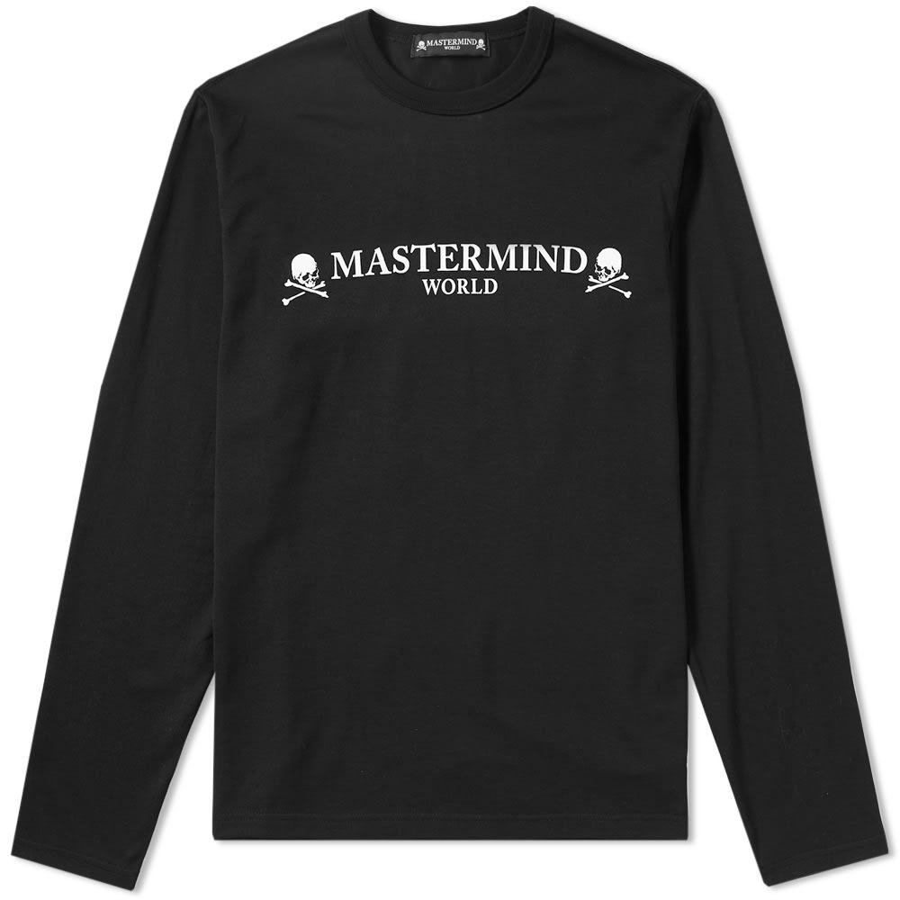 Mastermind Japan Mastermind World Long Sleeve Logo Tee In Black