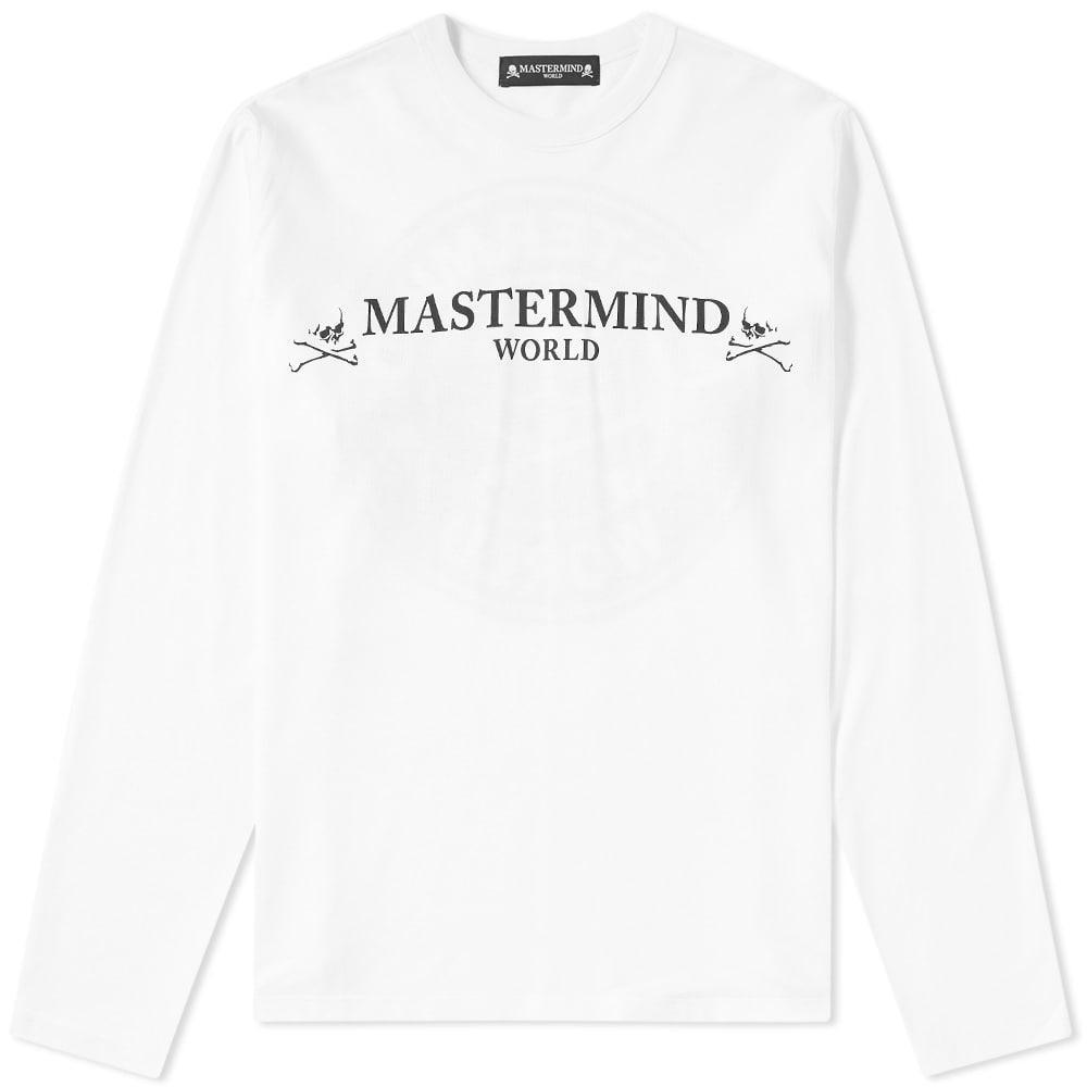Mastermind Japan Mastermind World Long Sleeve Circle Logo Tee In White