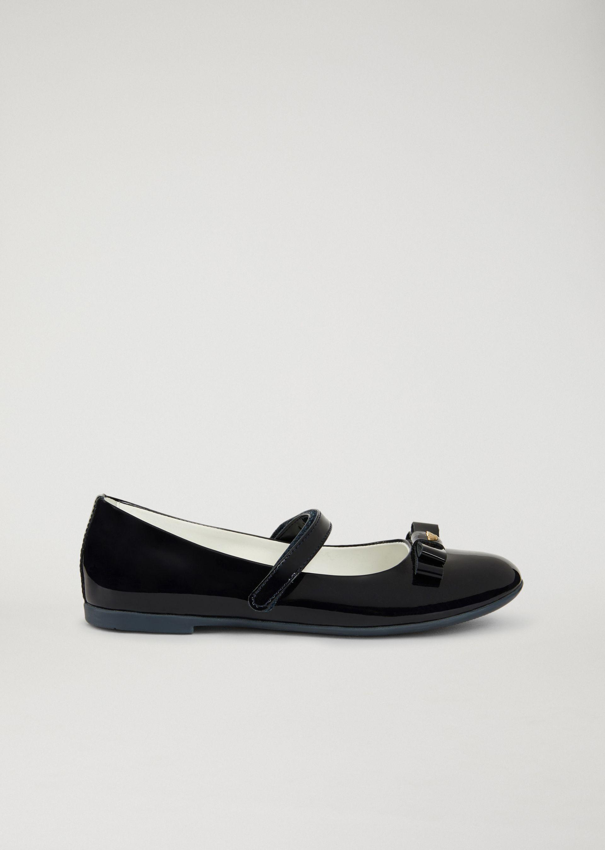 Emporio Armani Ballet Flats - Item 11429988 In Navy Blue