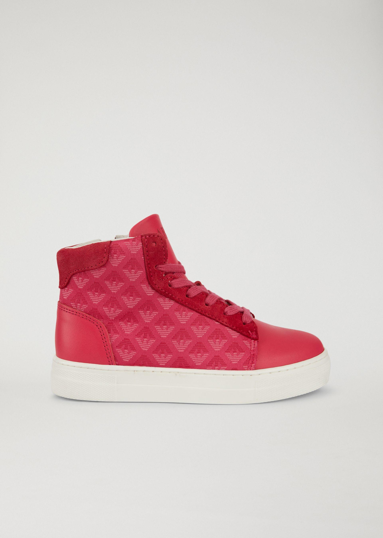 Emporio Armani Sneakers - Item 11428915 In Fuchsia ; Navy Blue ; White