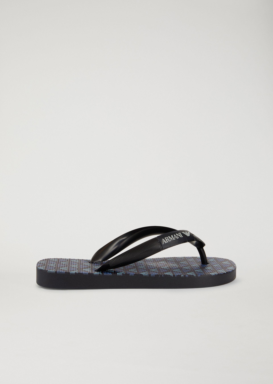 Emporio Armani Flip-flops - Item 11428875 In Navy Blue ; Fuchsia ; White