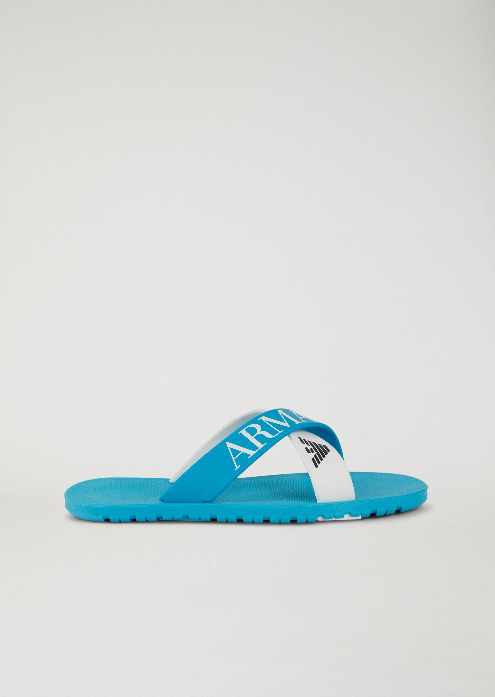 Emporio Armani Slides - Item 11428863 In Azure ; Navy Blue