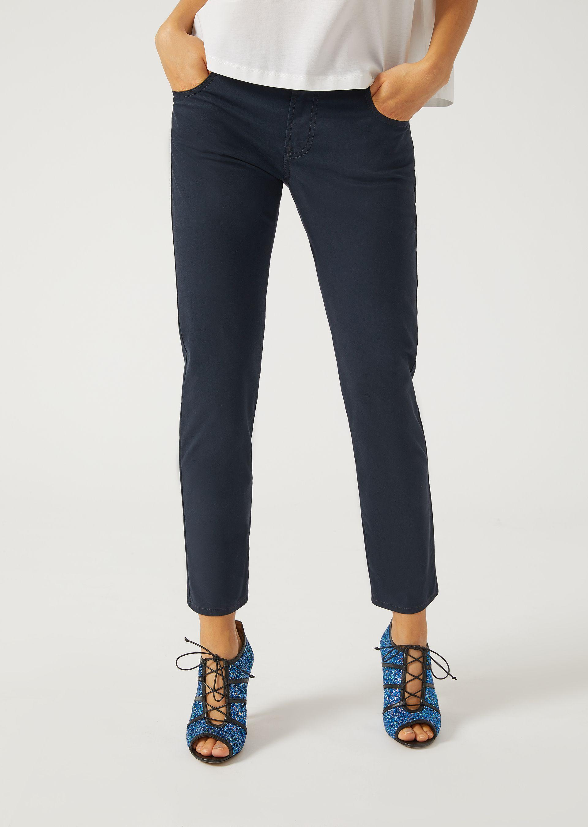 Emporio Armani Straight Jeans - Item 42658585 In Navy Blue ; Red