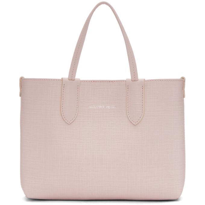 Alexander Mcqueen Pink Mini Shopper Tote