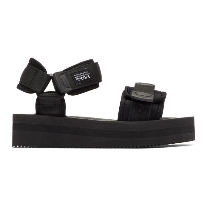Suicoke Black Cel Vpo Sandals