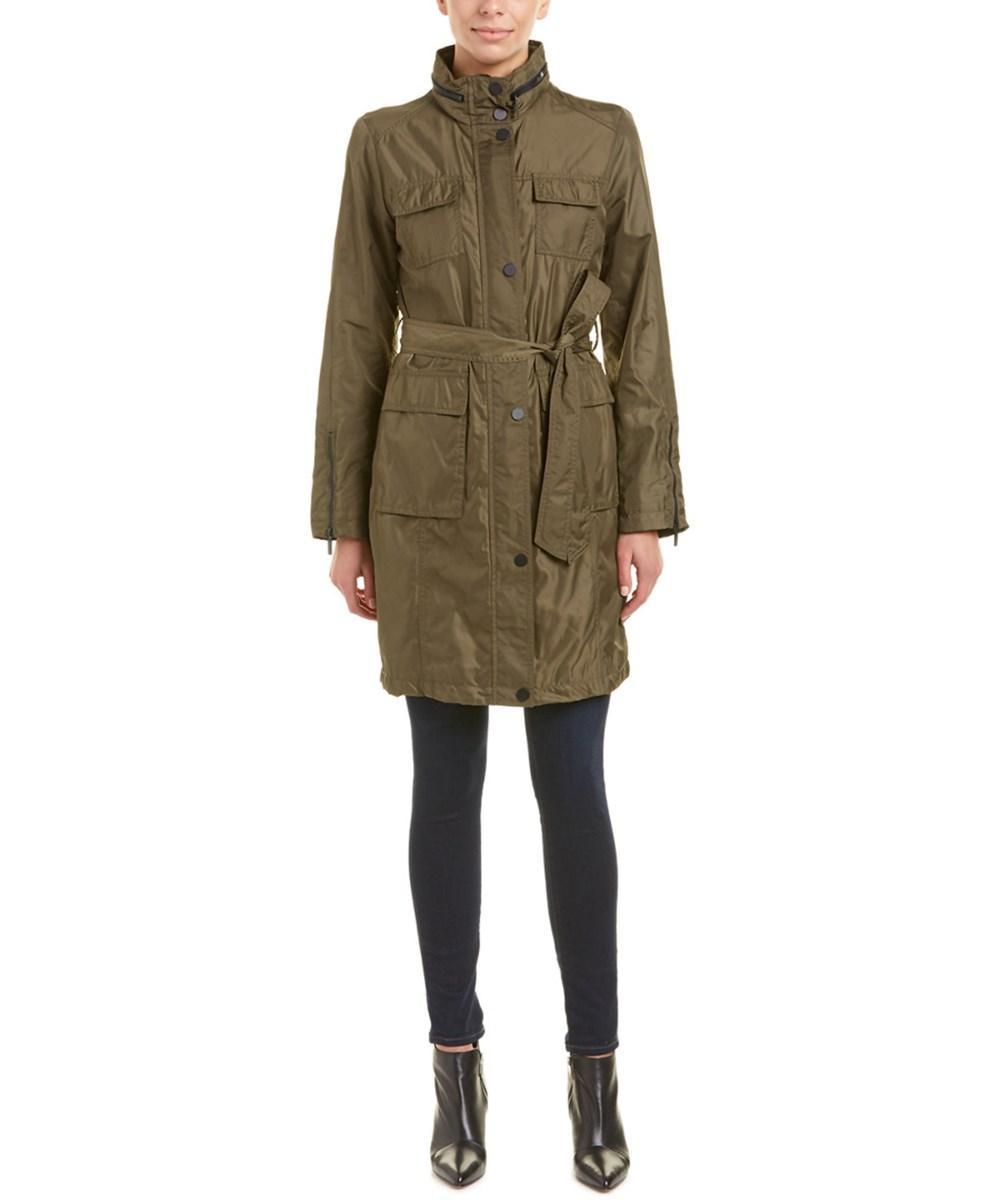 T Tahari Gisele Rain Coat In Olive