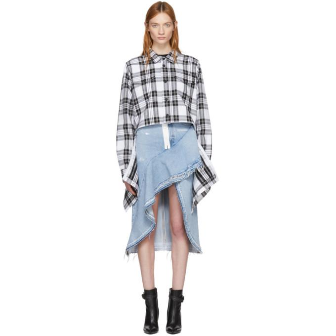 Off-white Black And White Check Shirt In 9910 Check