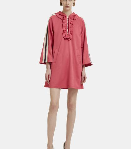 Gucci Hooded Sports Dress In Pink