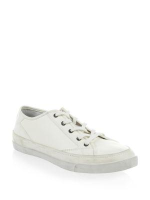 John Varvatos Jet Lace-Up Low Top Sneakers In White