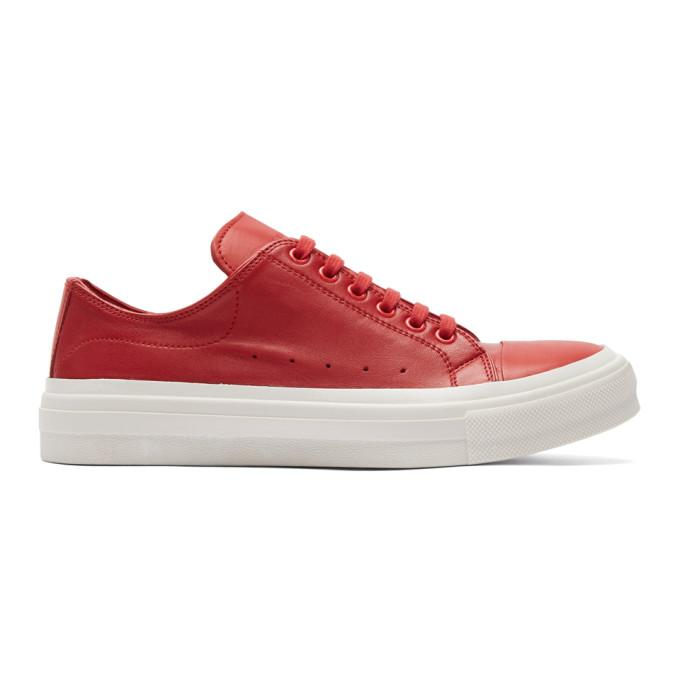 Alexander Mcqueen Red Cupsole Sneakers In 9162panred