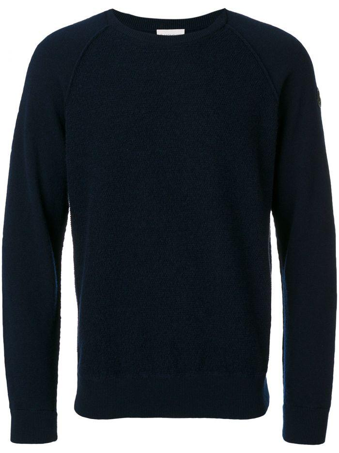 Moncler Logo Plaque Knitted Jumper In Animalier