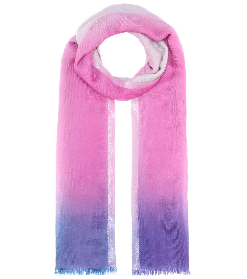 Loro Piana Summer Sunset Cashmere And Silk Scarf In Multicolor