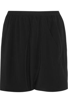 Rick Owens Woman Buds Crepe Shorts Black