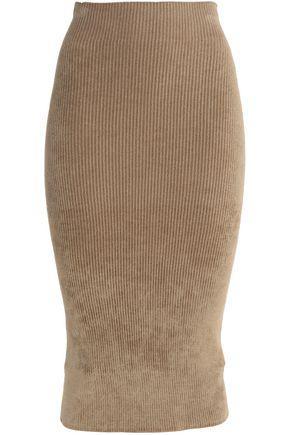 Helmut Lang Woman Chenille Skirt Light Brown