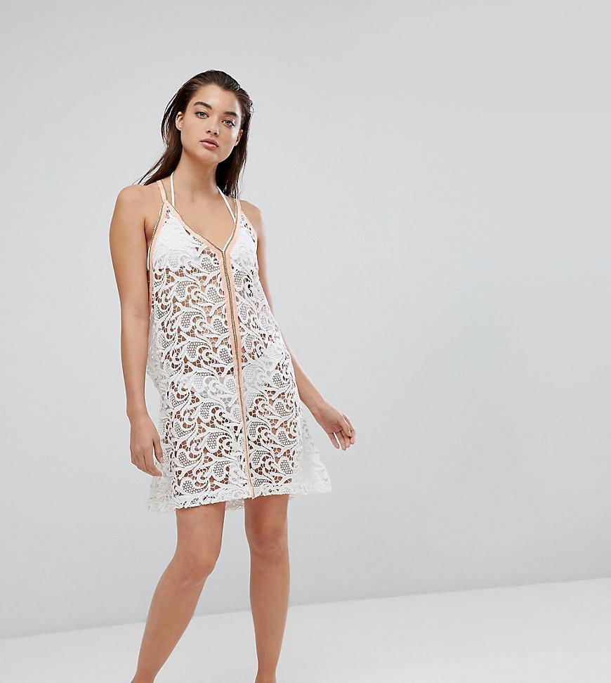 621bfd38440 Pitusa Crochet Beach Mini Sundress - White