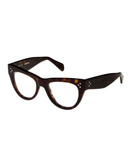 de3badc0e5d Celine cat-eye optical frames in acetate. Lens bridge temple (in mm)   50-19-145. Clear