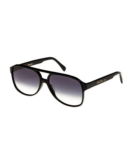 cecd372eb759 Celine 62Mm Oversize Aviator Sunglasses - Black  Smoke