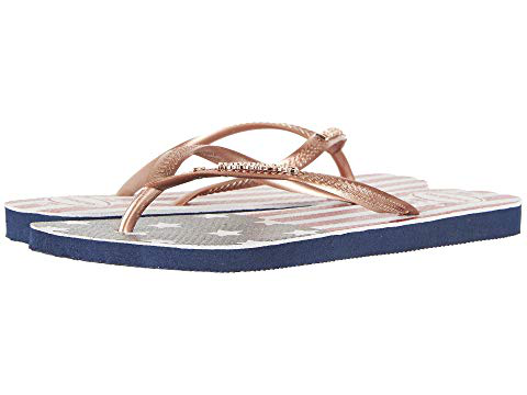 e6a8a29225ad Havaianas Slim Printed Flip Flops In Navy Blue