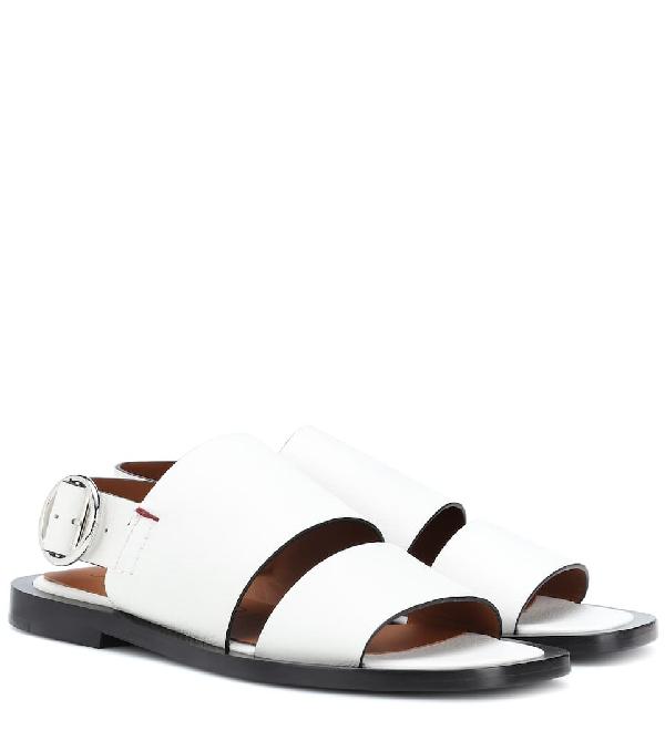 Joseph Double-strap Leather Sandals In White