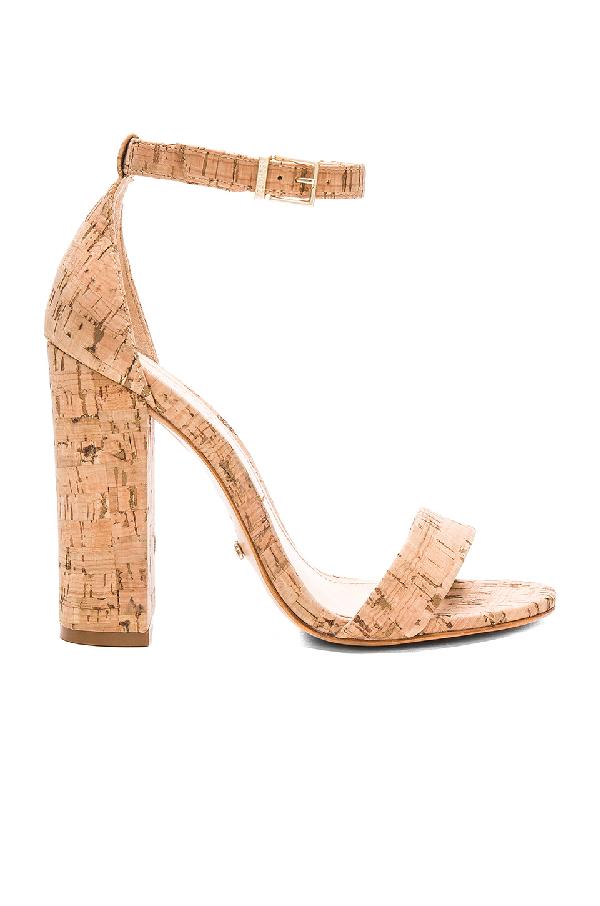 Schutz Women's Enida High Block-heel Sandals In Natural