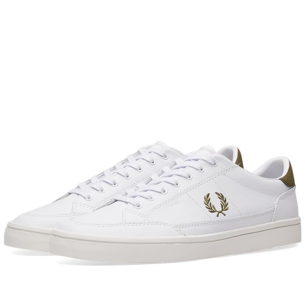 8f7ea9ab681bb Fred Perry Deuce Leather Sneaker in White