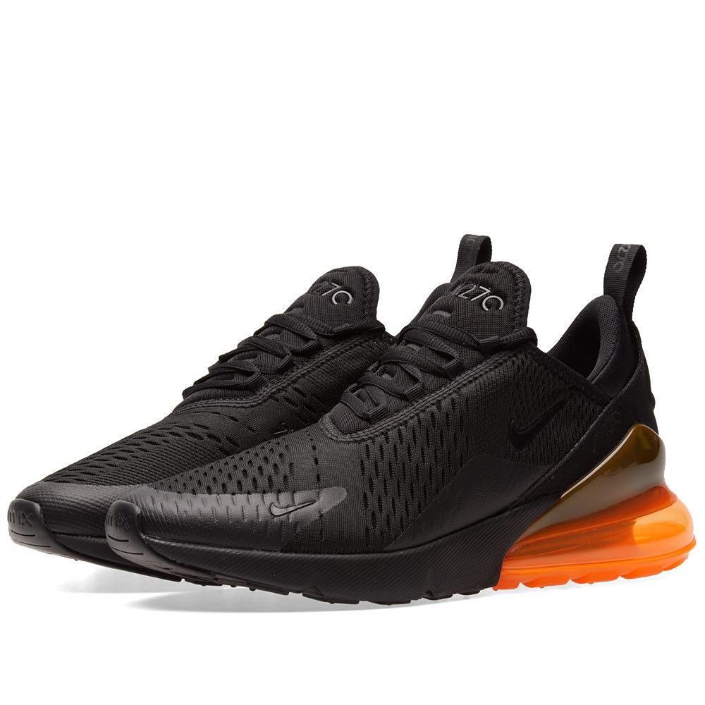 Nike Air Max 270 Mesh And Rubber Sneakers In Black