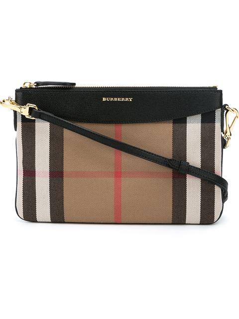 Burberry 'Peyton - House Check' Crossbody Bag - Black