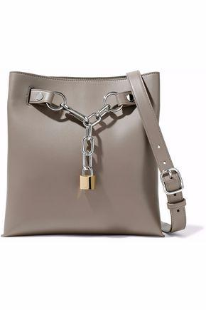 Alexander Wang Woman Chain-Embellished Leather Tote Gray