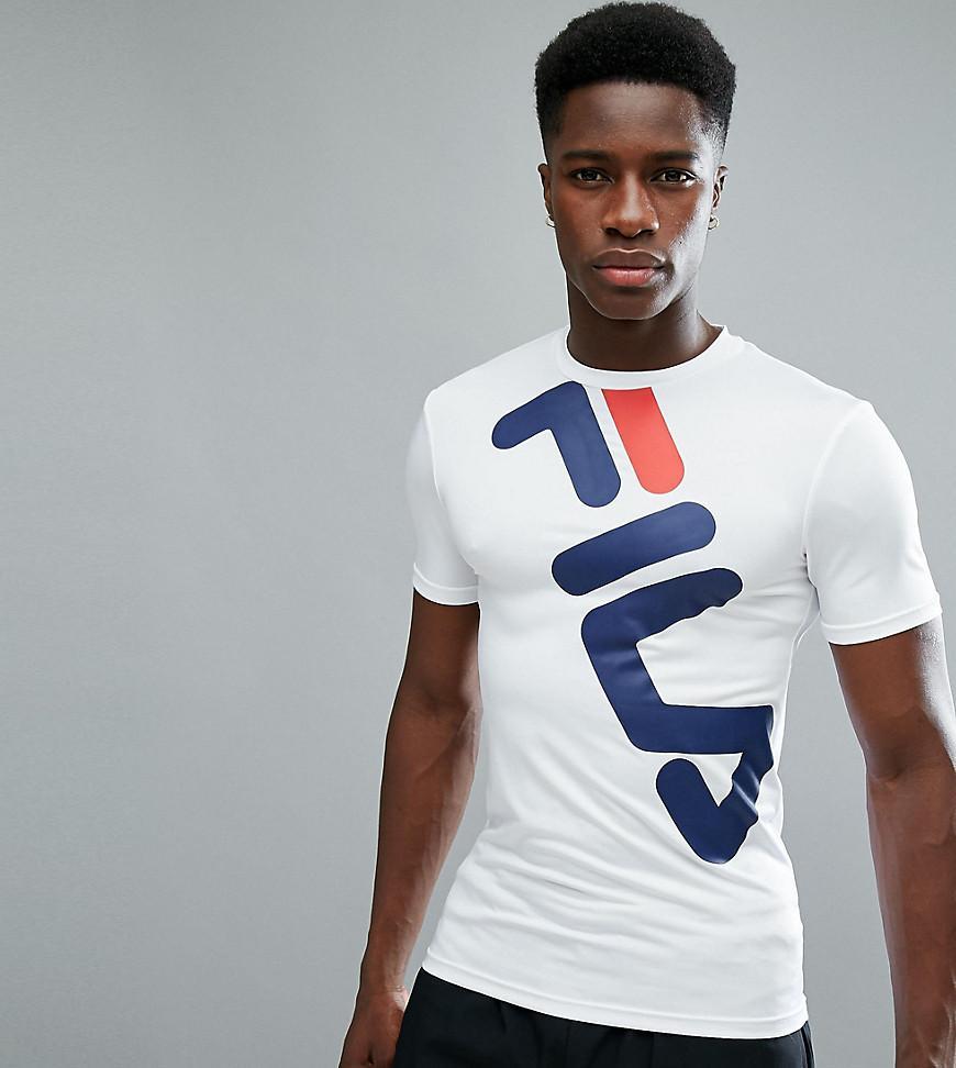 229b97da Black Line Compression T-Shirt With Large Logo In White - White