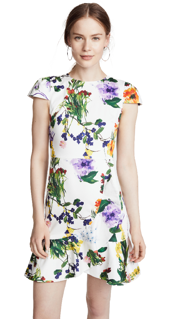 2f0966baf1c7 Alice And Olivia Alice + Olivia Kirby Ruffled Floral Print Dress In  Wildflower