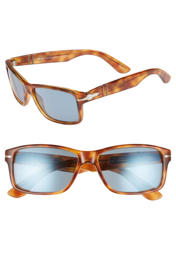 d8bbb38309 Persol Rectangular Propionate Sunglasses With Gradient Lenses In Lite Havana