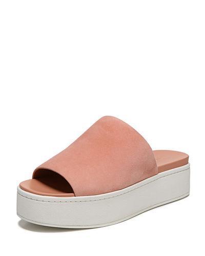 70ca364ddee6 Vince Women s Walford Suede Platform Slide Sandals In Blush
