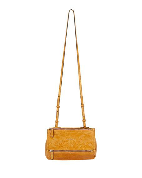760af8490f Givenchy  Mini Pepe Pandora  Leather Shoulder Bag - Yellow In Amber ...